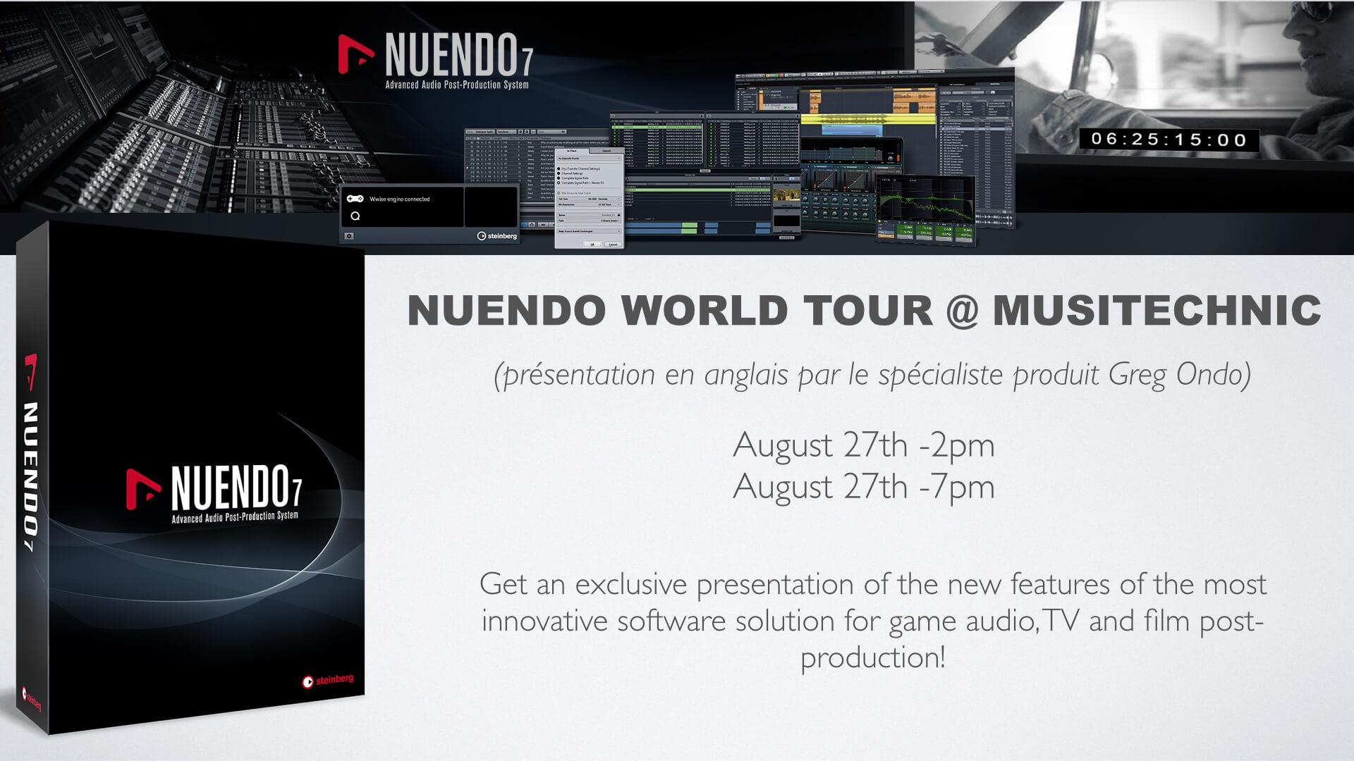 La tournée Steinberg «Nuendo World Tour» arrête à Musitechnic le 27 août.