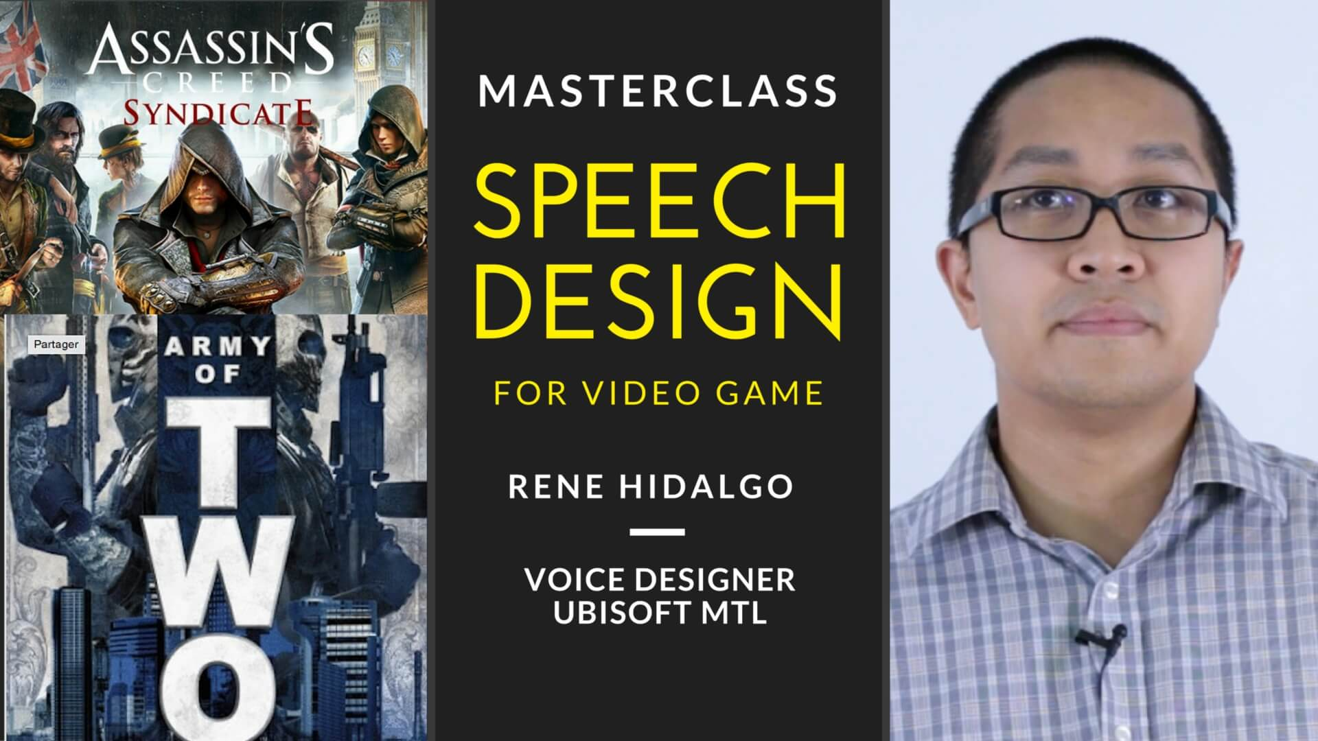 MasterClass : Speech Design for video games