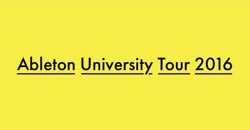 """The """"Ableton University Tour 2016"""" makes a stop at Musitechnic"""