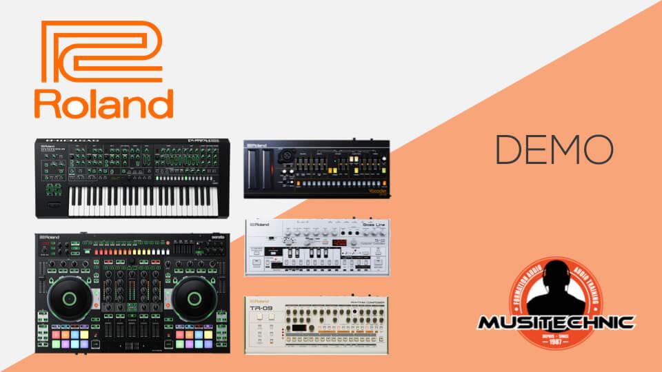 Demo Roland dj-808, system8, tb-03, tr-09, vp-03