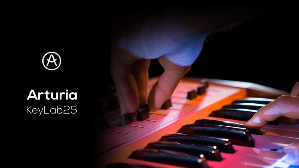 Le KeyLab25 d'Arturia – Contrôleur MIDI USB