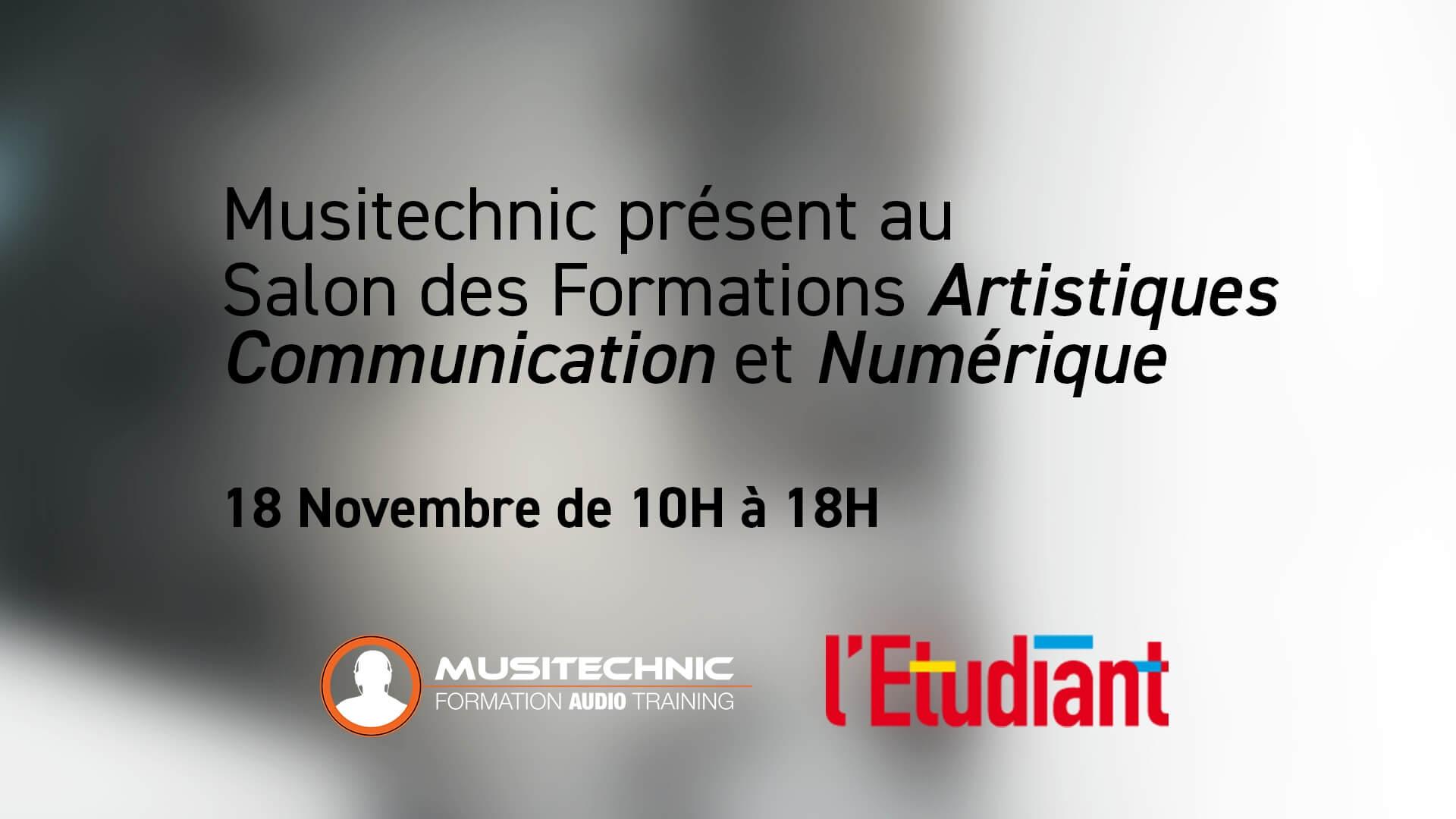 Musitechnic présent au Salon des Formations Artistiques, Communication et Numérique
