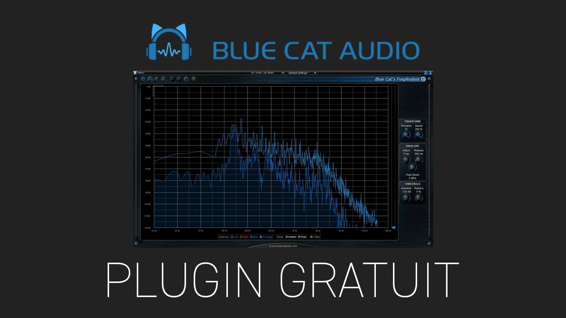 FreqAnalyst de Blue Cat Audio Plugin Gratuit