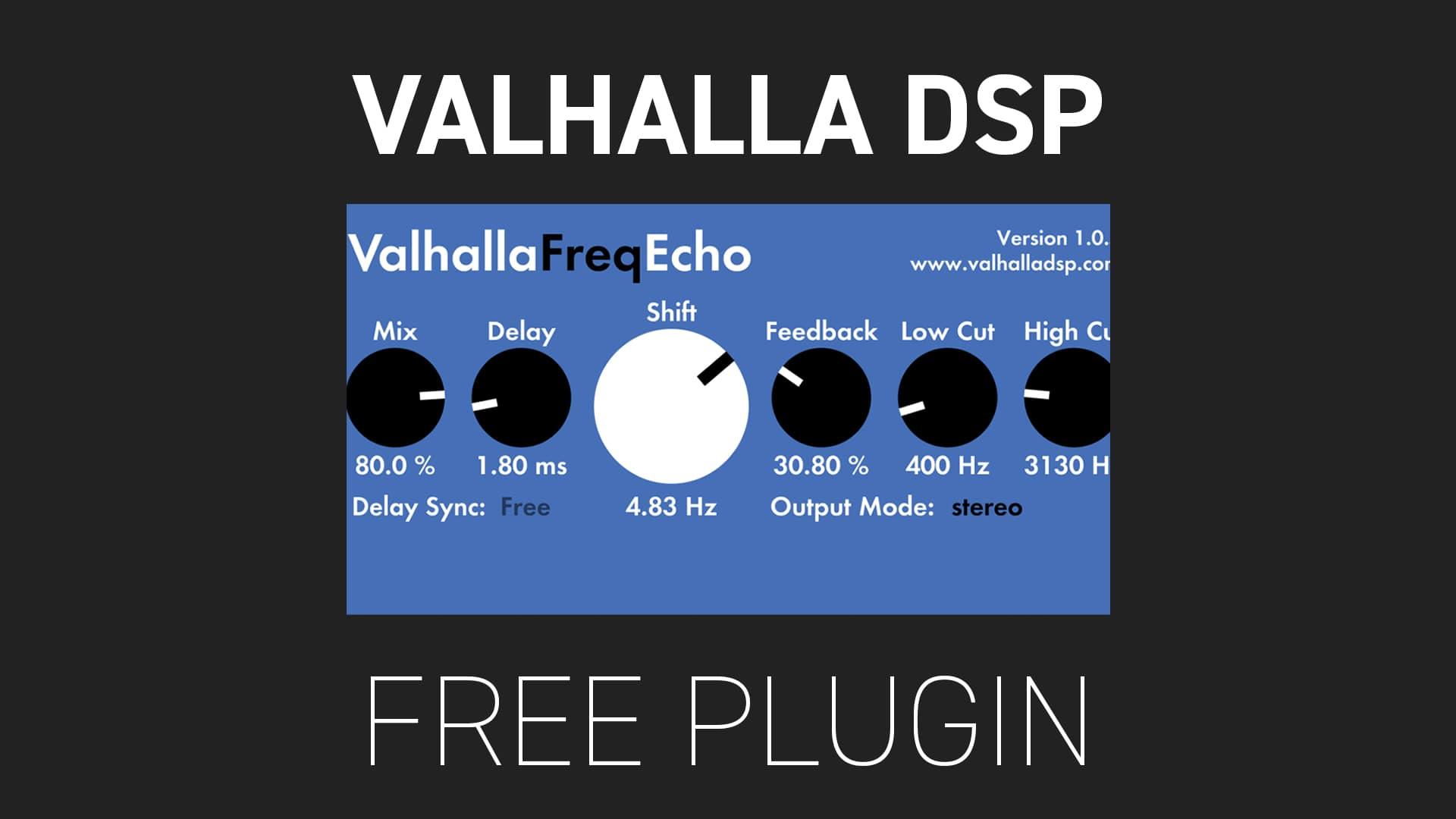 Valhalla DSP free plugin Freq Echo