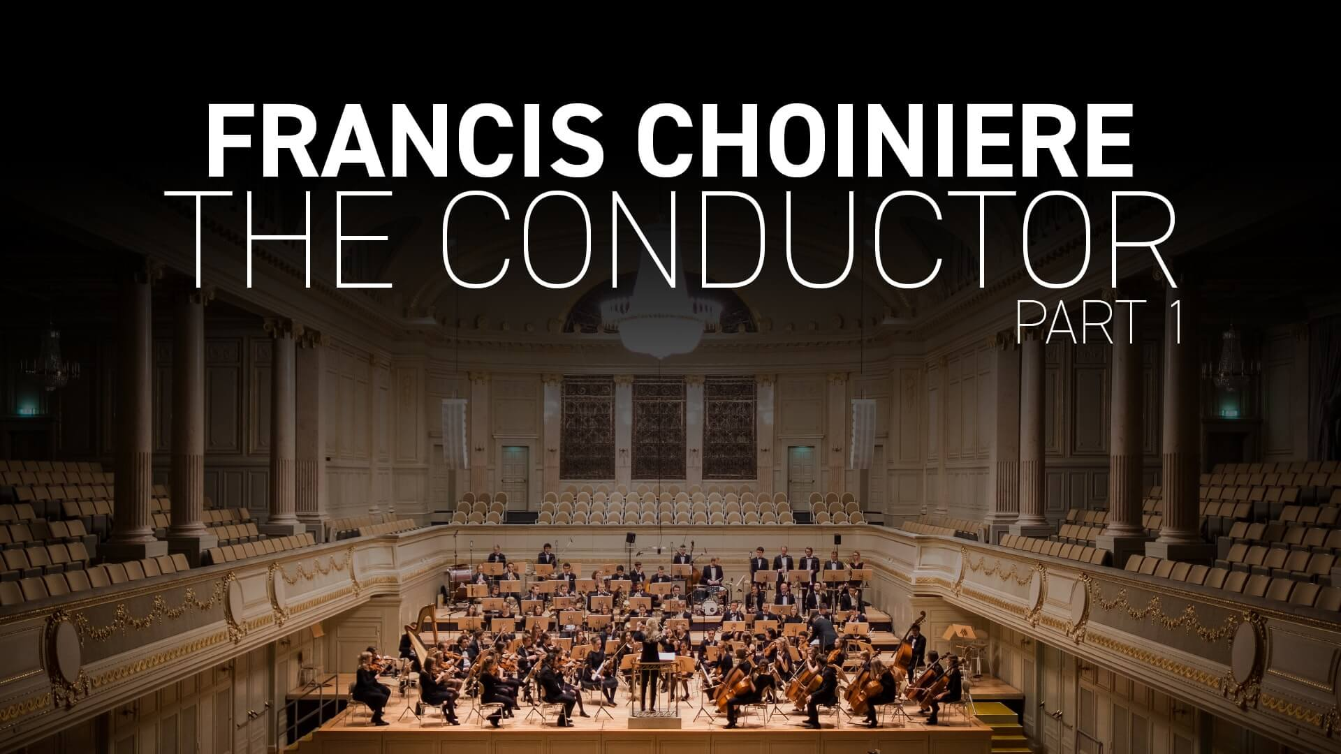 The conductor, a meeting with Francis Choiniere (part one)