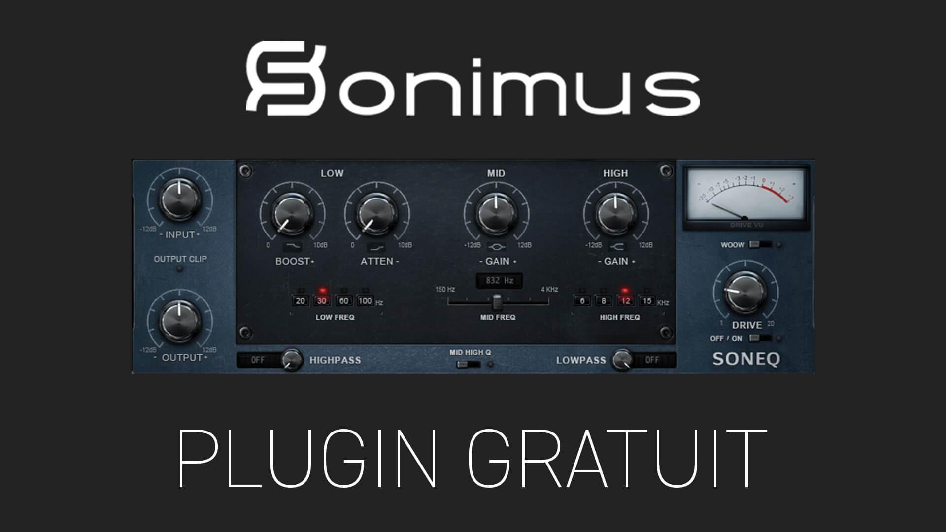 SonEQ de Sonimus Plugin Gratuit
