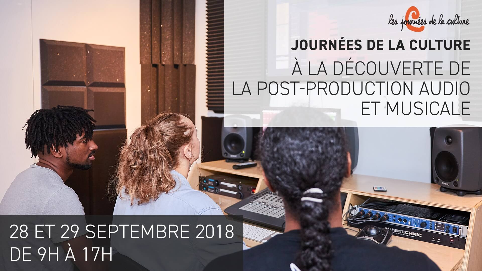 Découverte de la Post-Production Audio et Musicale – 22ème Édition des Journées de la Culture