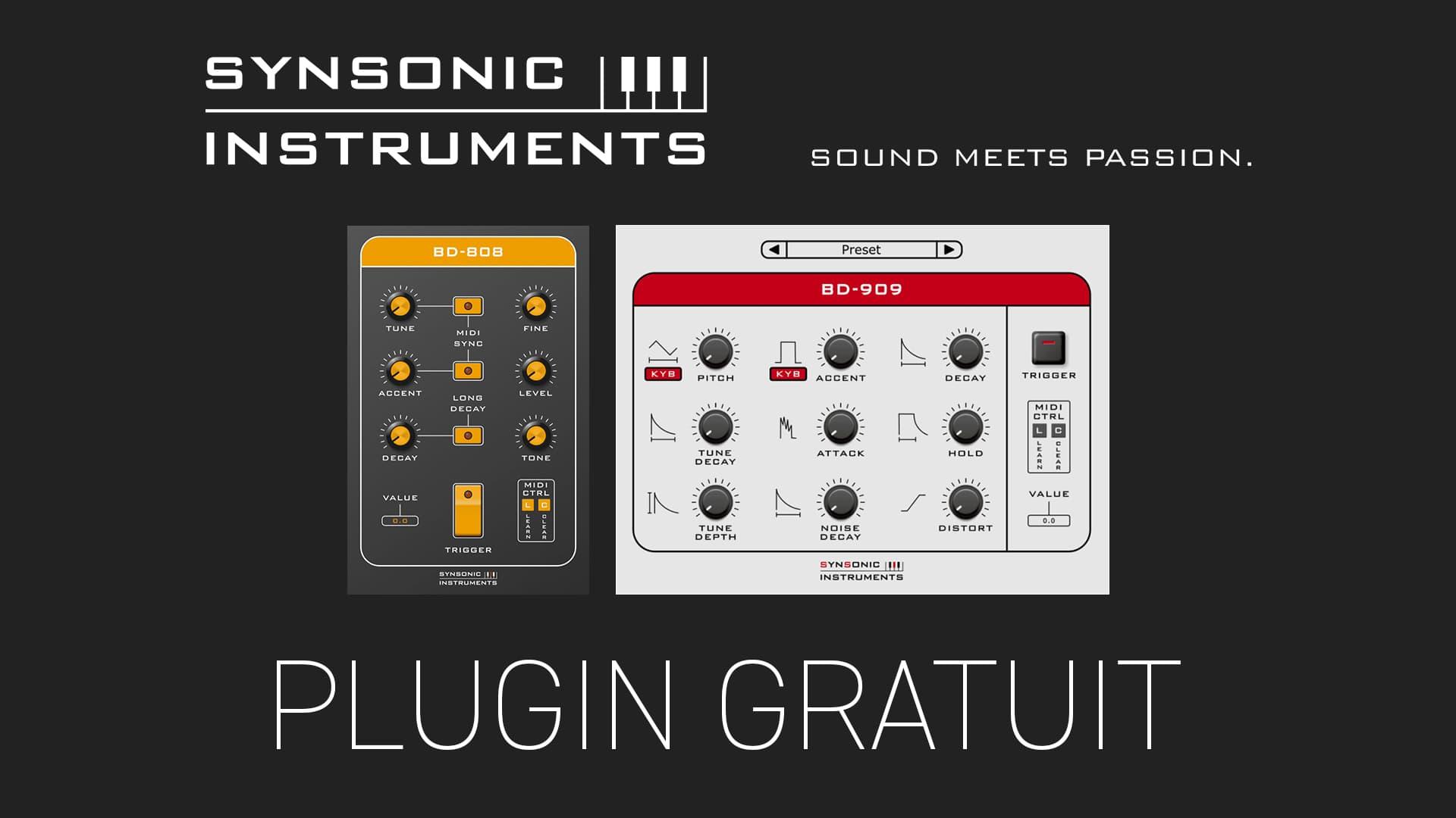 BD-808 et BD-909 de Synsonic Instruments Plugin Gratuit