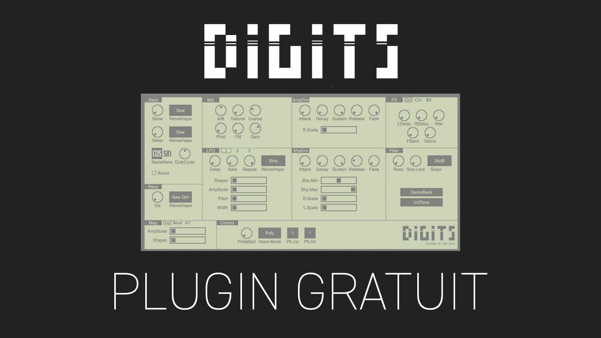 Digits 2 de Extent of the jam Plugin Gratuit