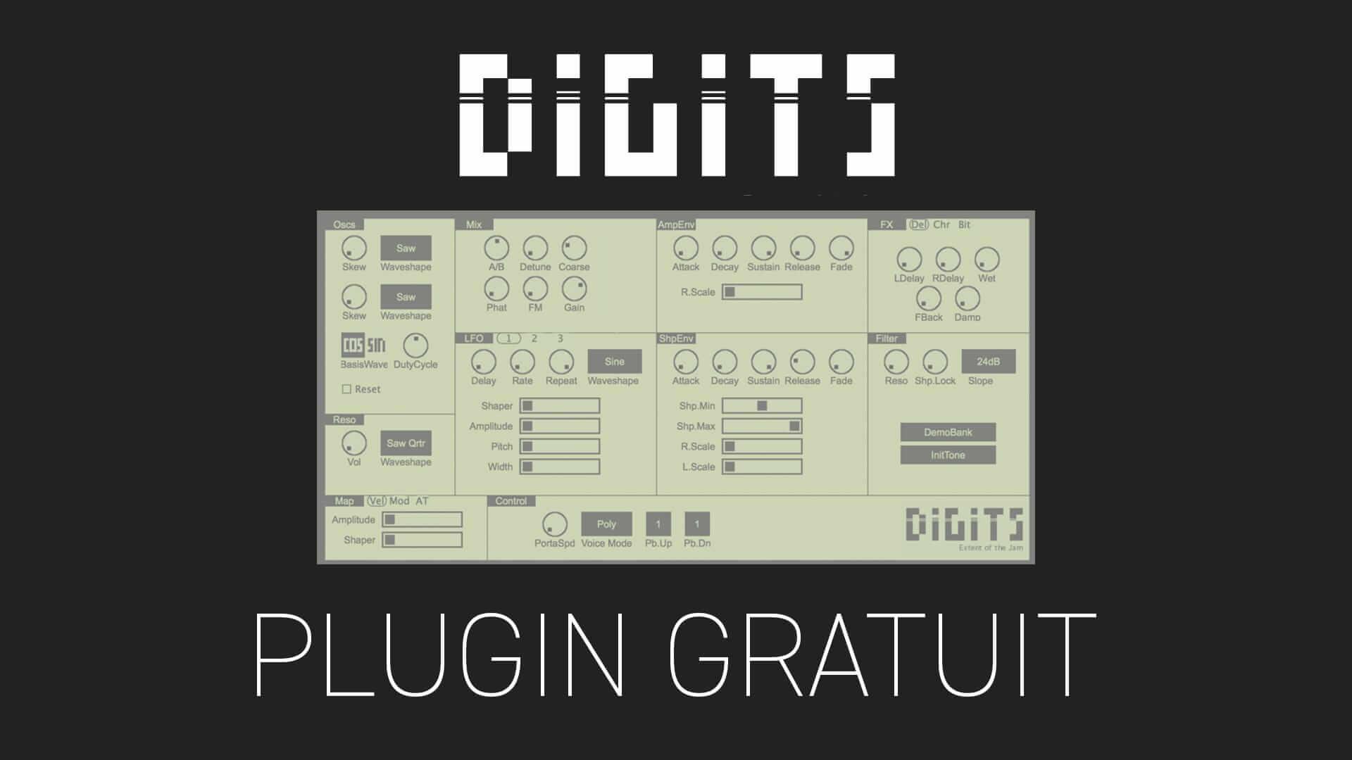 Digits 2 de Extent of the jam Plugin Gratuit