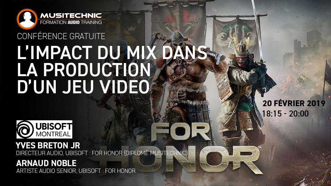 Conférence : le Mix cinématographique dans For Honor