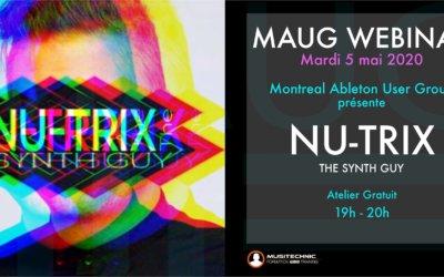 MAUG Meetup Webinar: Nu-Trix The Synth Guy