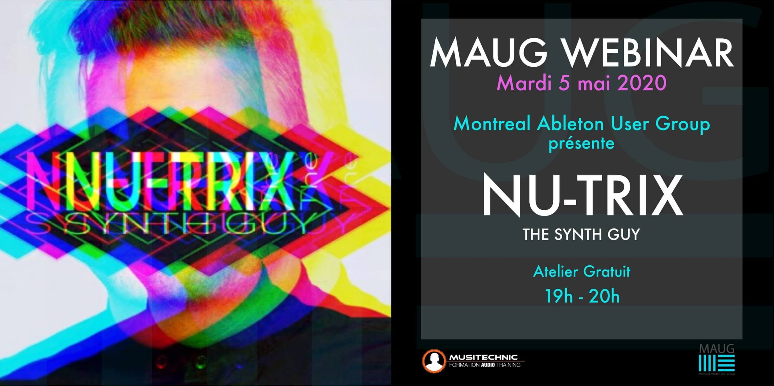 MAUG avec Nu-Trix the synth guy