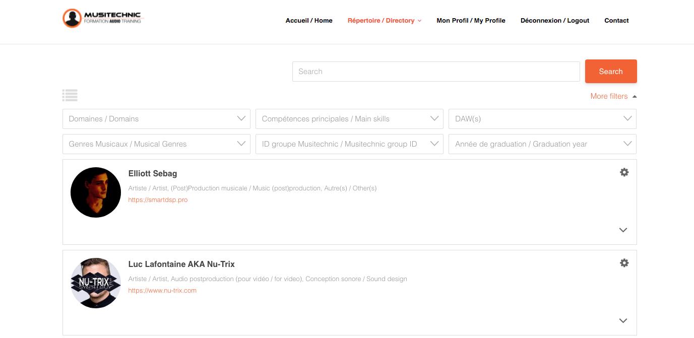 Musitechnic Alumni Platform